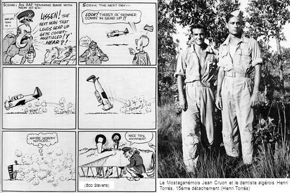 (Bob Stevens) Le Mostaganémois Jean Cruon et le dentiste algérois Henri Torrès, 15ème détachement (Henri Torrès)