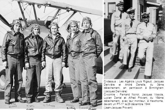 Ci-dessus : Les Algérois Louis Rigaud, Jacques Derivière et André Denelle, du 3ème détachement, en permission à Birmingham (Jacques Derivière)