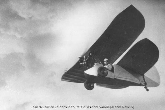 Jean Neveux en vol dans le Pou du Ciel d'André Vanoni (Jeanne Neveux)