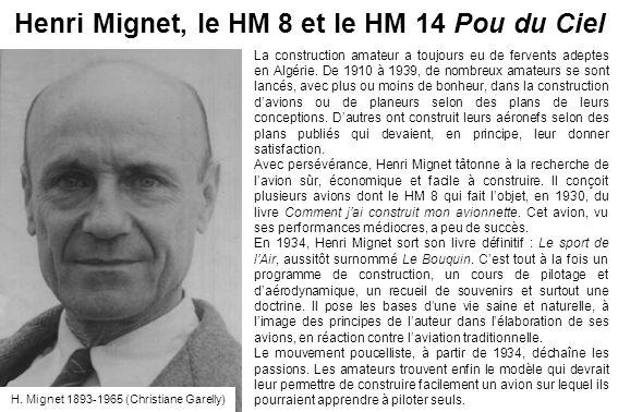 Henri Mignet, le HM 8 et le HM 14 Pou du Ciel