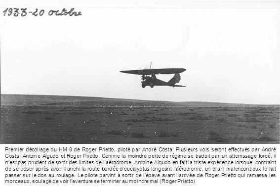Premier décollage du HM 8 de Roger Prietto, piloté par André Costa