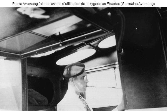 Pierre Averseng fait des essais d'utilisation de l'oxygène en Phalène (Germaine Averseng)