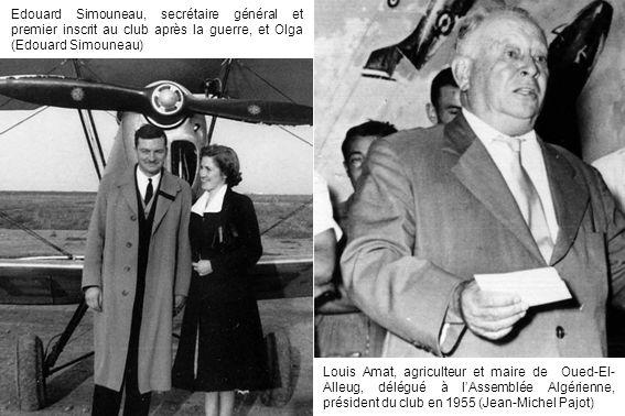 Edouard Simouneau, secrétaire général et premier inscrit au club après la guerre, et Olga (Edouard Simouneau)