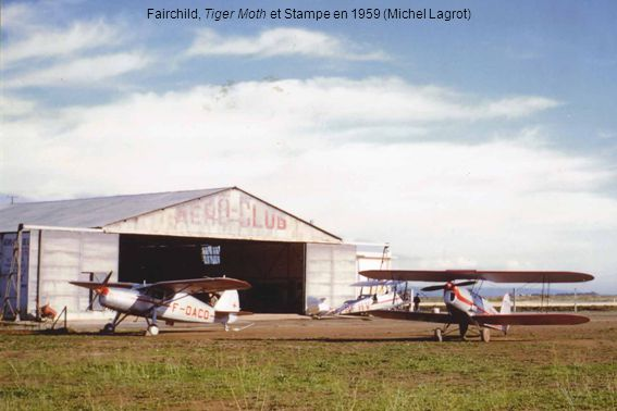 Fairchild, Tiger Moth et Stampe en 1959 (Michel Lagrot)