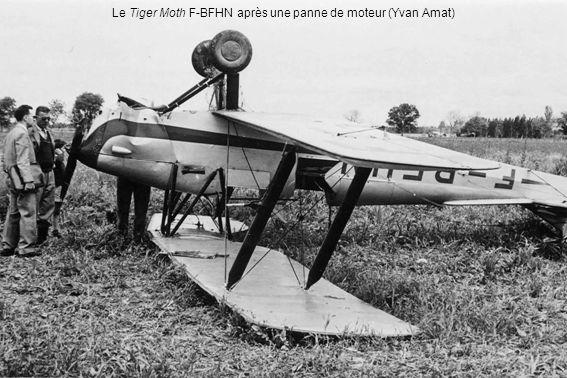 Le Tiger Moth F-BFHN après une panne de moteur (Yvan Amat)