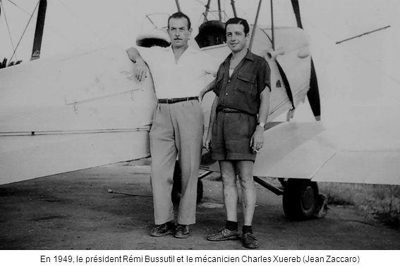 En 1949, le président Rémi Bussutil et le mécanicien Charles Xuereb (Jean Zaccaro)