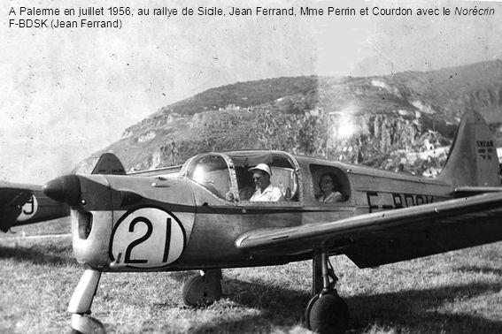 A Palerme en juillet 1956, au rallye de Sicile, Jean Ferrand, Mme Perrin et Courdon avec le Norécrin F-BDSK (Jean Ferrand)
