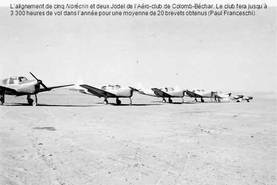 L'alignement de cinq Norécrin et deux Jodel de l'Aéro-club de Colomb-Béchar.