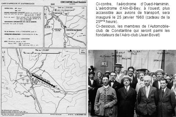 Ci-contre, l'aérodrome d'Oued-Hamimin