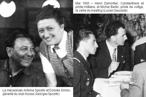 Mai 1953 – Henri Dumortier, Constantinois et pilote militaire, et Michel Berlin, pilote de voltige, la veille du meeting (Lucien Saucède)