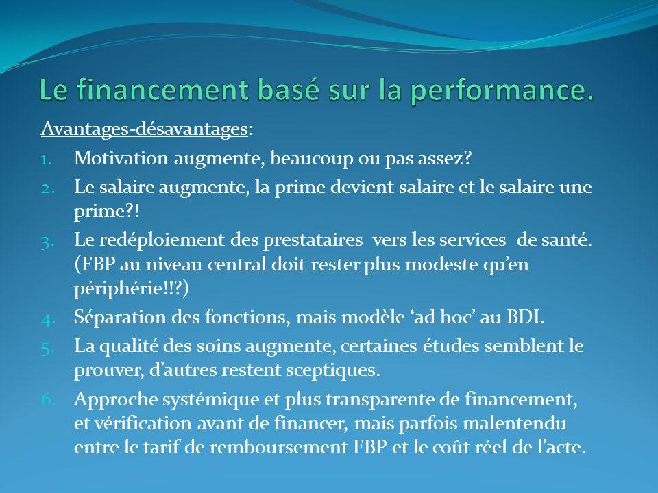 Le financement basé sur la performance.