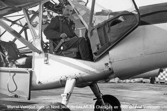 Marcel Vervoort dans un Nord 3400 du GALAT 3 à Chéragas en 1960 (Marcel Vervoort)