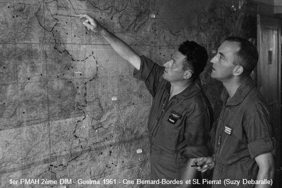 1er PMAH 2ème DIM - Guelma 1961 - Cne Bernard-Bordes et SL Pierrat (Suzy Debaralle)