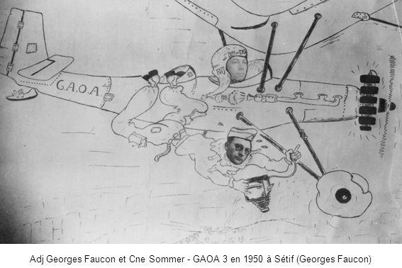 Adj Georges Faucon et Cne Sommer - GAOA 3 en 1950 à Sétif (Georges Faucon)