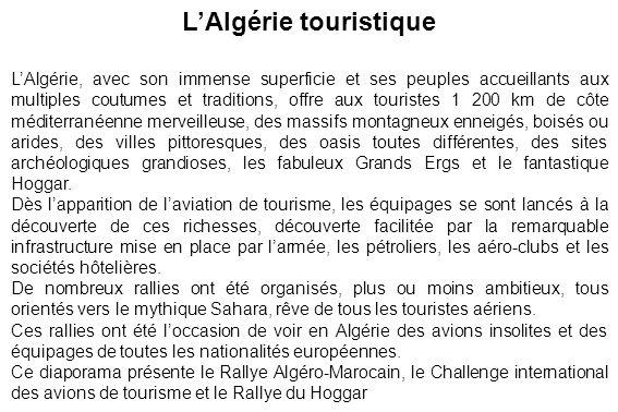 L'Algérie touristique