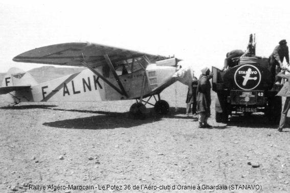 Rallye Algéro-Marocain - Le Potez 36 de l'Aéro-club d'Oranie à Ghardaïa (STANAVO)