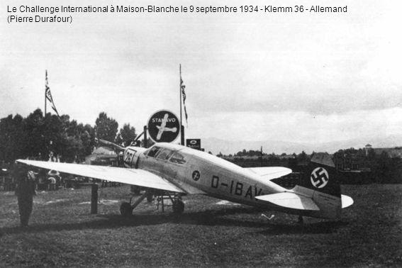 Le Challenge International à Maison-Blanche le 9 septembre 1934 - Klemm 36 - Allemand