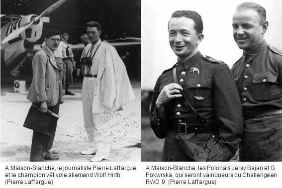 A Maison-Blanche, le journaliste Pierre Laffargue et le champion vélivole allemand Wolf Hirth (Pierre Laffargue)