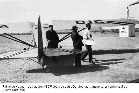 Rallye du Hoggar - Le Caudron 480 Frégate de Louis Durafour qui transporte les commissaires
