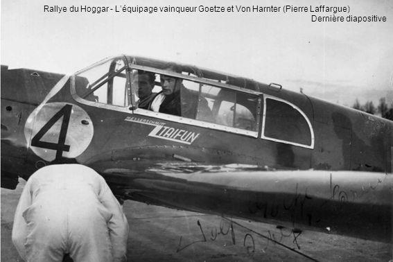 Rallye du Hoggar - L'équipage vainqueur Goetze et Von Harnter (Pierre Laffargue)
