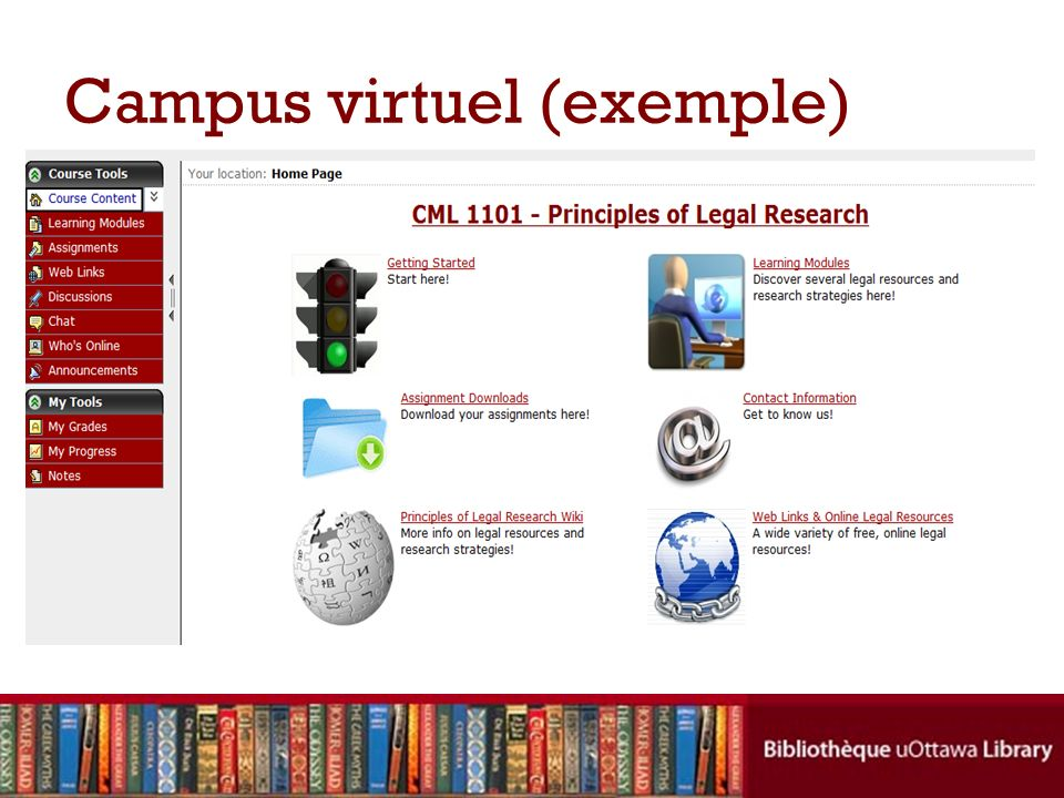 Campus virtuel (exemple)