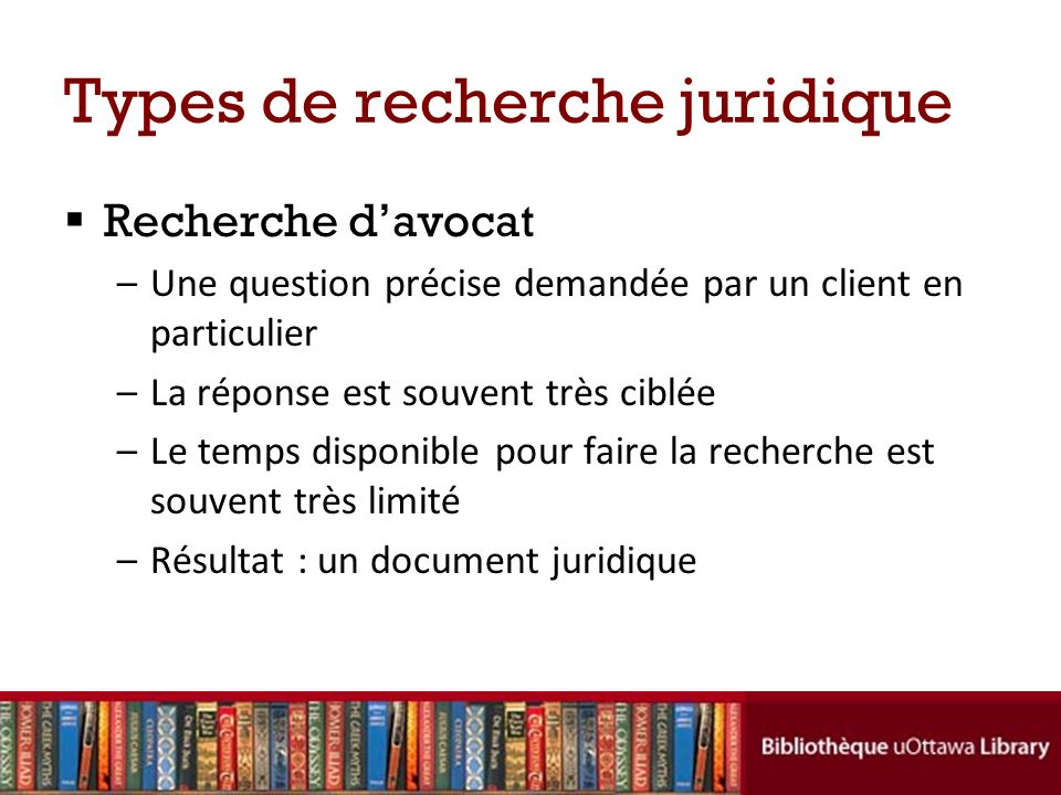 Types de recherche juridique