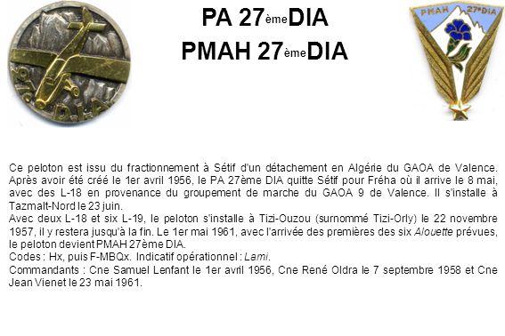 PA 27èmeDIA PMAH 27èmeDIA.