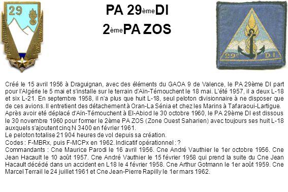 PA 29èmeDI 2èmePA ZOS.