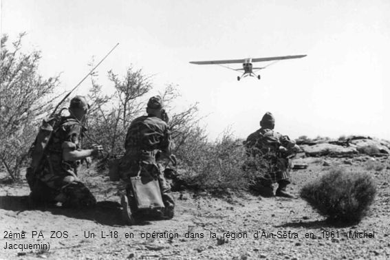 2ème PA ZOS - Un L-18 en opération dans la région d'Aïn-Séfra en 1961 (Michel Jacquemin)