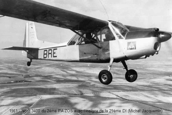 1961 - Nord 3400 du 2ème PA ZOS avec l'insigne de la 29ème DI (Michel Jacquemin)