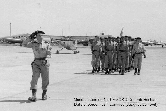 Manifestation du 1er PA ZOS à Colomb-Béchar - Date et personnes inconnues (Jacques Lambert)