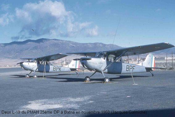 Deux L-19 du PMAH 25ème DP à Batna en novembre 1960 (Jacques Galmiche)
