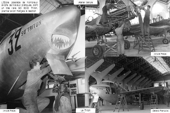 L'Ecole possède de nombreux avions de travaux pratiques, dont un très rare SO 6000 Triton, premier avion français à réaction