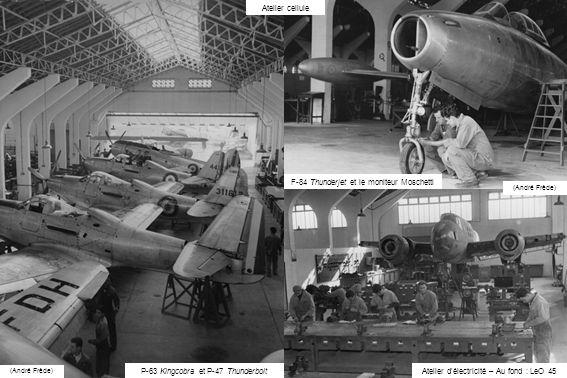 F-84 Thunderjet et le moniteur Moschetti