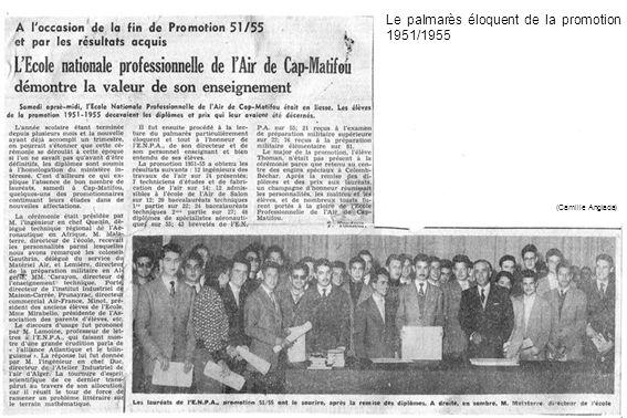 Le palmarès éloquent de la promotion 1951/1955