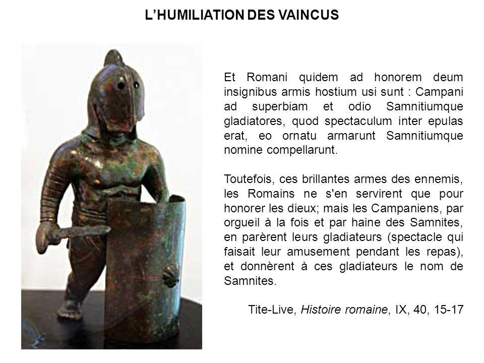 L'HUMILIATION DES VAINCUS