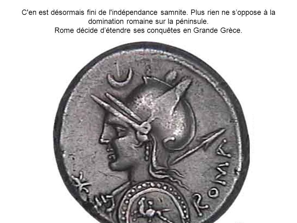 Rome décide d'étendre ses conquêtes en Grande Grèce.