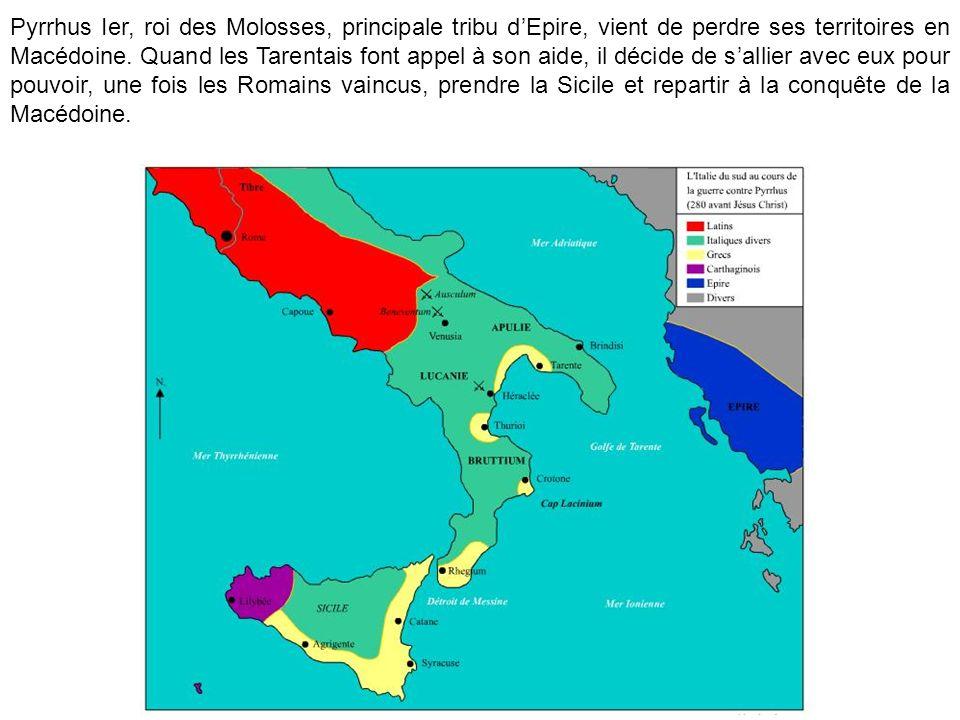 Pyrrhus Ier, roi des Molosses, principale tribu d'Epire, vient de perdre ses territoires en Macédoine.