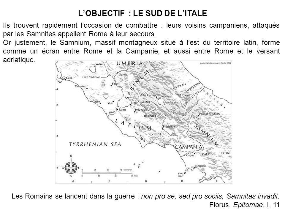 L'OBJECTIF : LE SUD DE L'ITALE