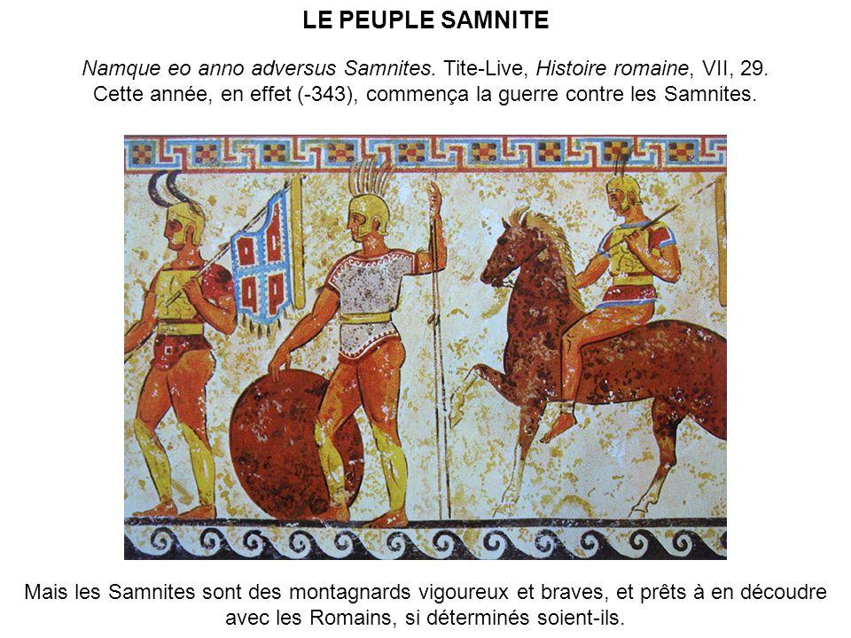 Cette année, en effet (-343), commença la guerre contre les Samnites.