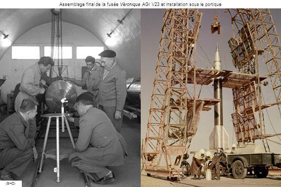 Assemblage final de la fusée Véronique AGI V23 et installation sous le portique