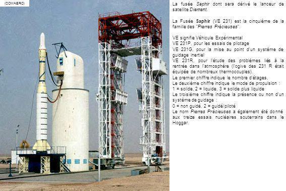 La fusée Saphir dont sera dérivé le lanceur de satellite Diamant.