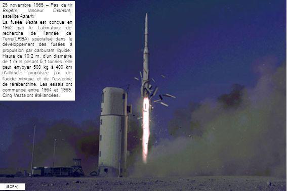 25 novembre 1965 – Pas de tir Brigitte, lanceur Diamant, satellite Asterix