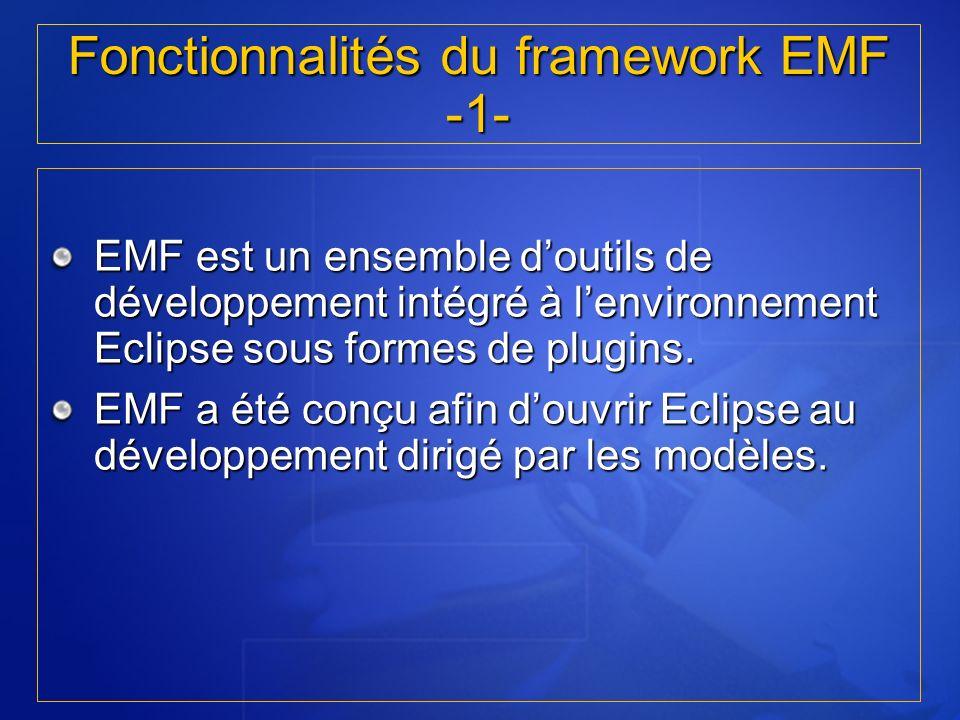Fonctionnalités du framework EMF -1-