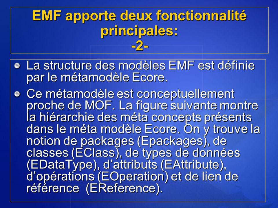 EMF apporte deux fonctionnalité principales: -2-