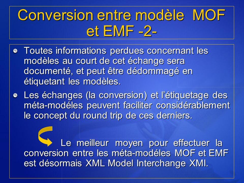 Conversion entre modèle MOF et EMF -2-