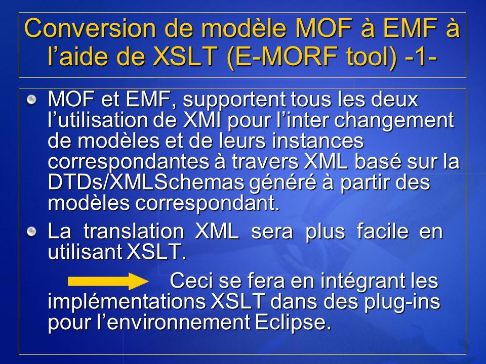 Conversion de modèle MOF à EMF à l'aide de XSLT (E-MORF tool) -1-