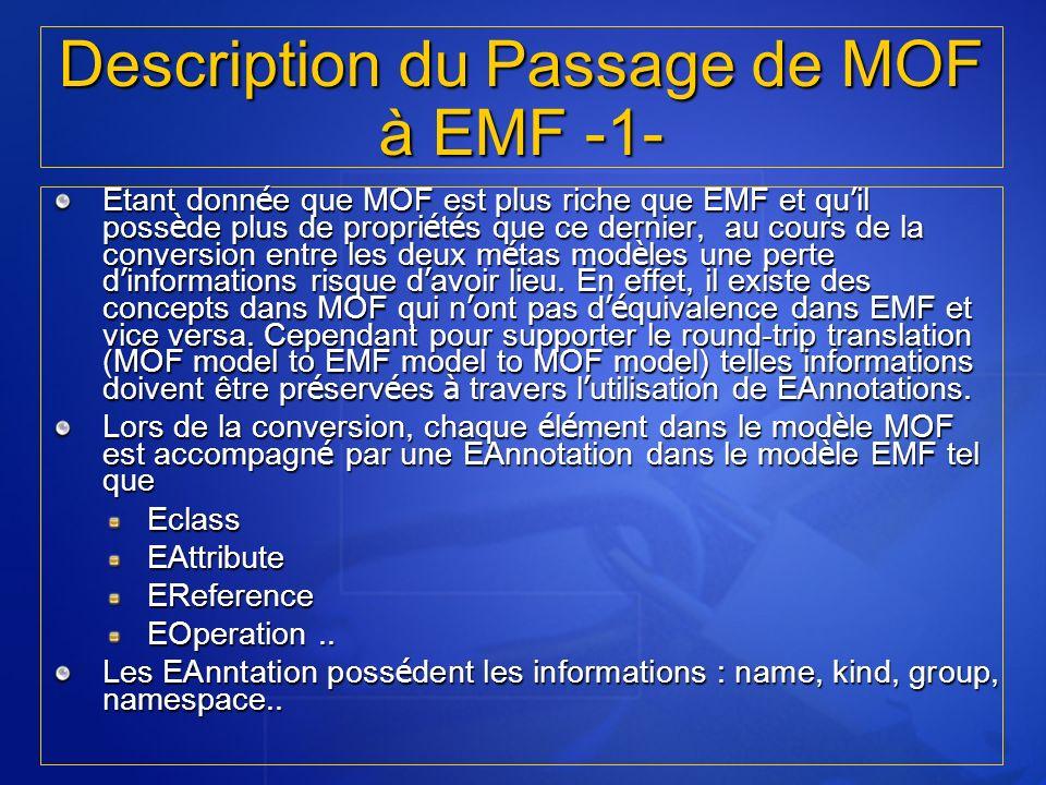 Description du Passage de MOF à EMF -1-