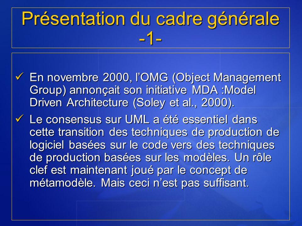 Présentation du cadre générale -1-