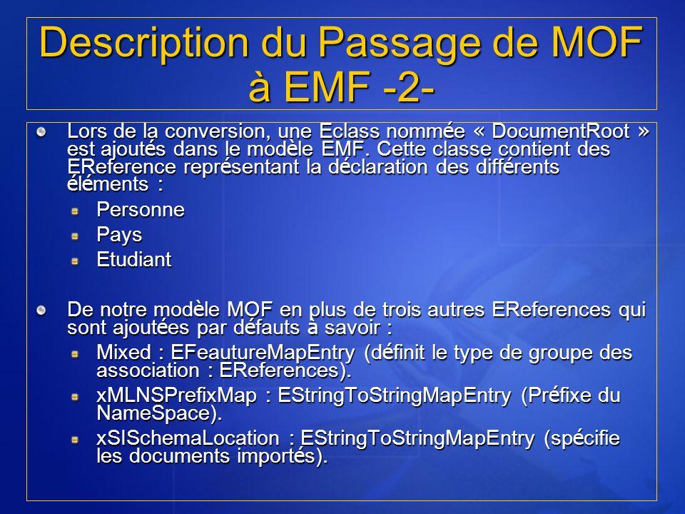 Description du Passage de MOF à EMF -2-